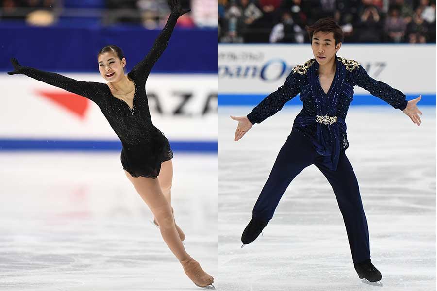 村上佳菜子さん(左)と織田信成さん【写真:Getty Images】