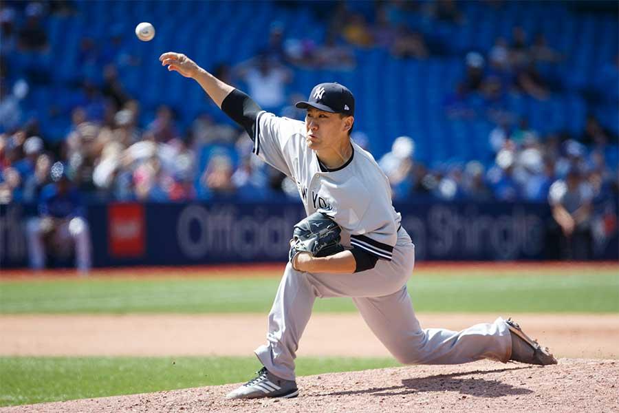 8勝目を挙げたヤンキース・田中将大【写真:Getty Images】