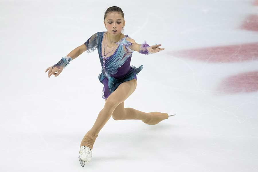 逆転Vを飾ったカミラ・ワリエワ【写真:Getty Images】