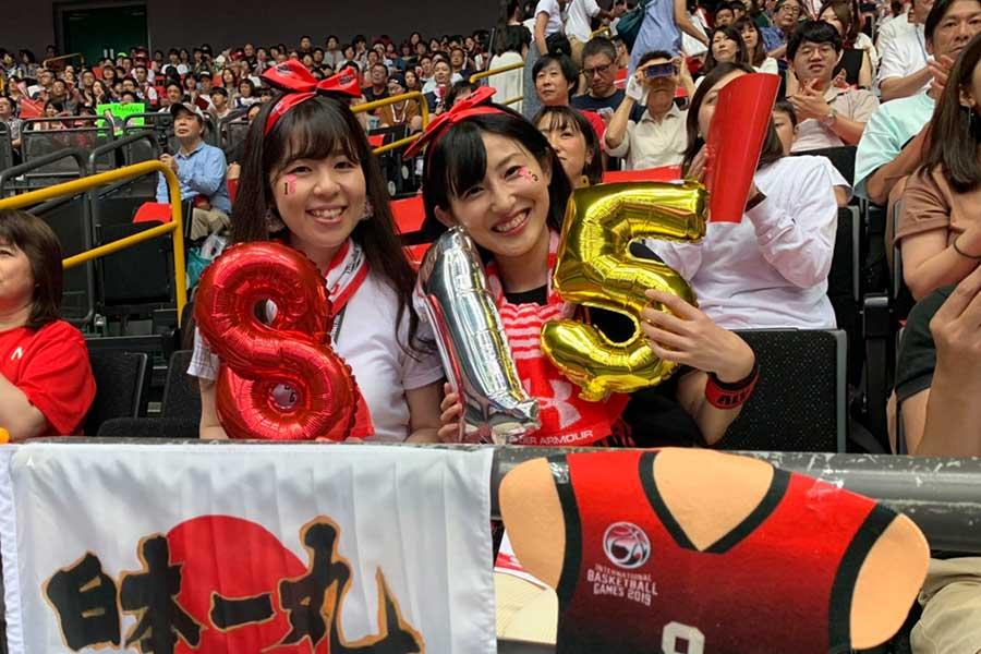 多くのファンが日本代表の応援に駆け付けた