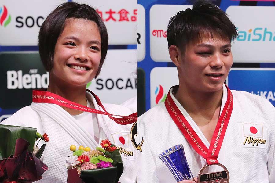 阿部兄妹はそろってメダルを獲得した【写真:AP】