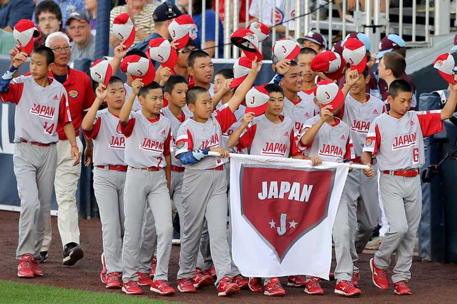 日本代表として出場した調布リトルの選手たち【写真:Getty Images】