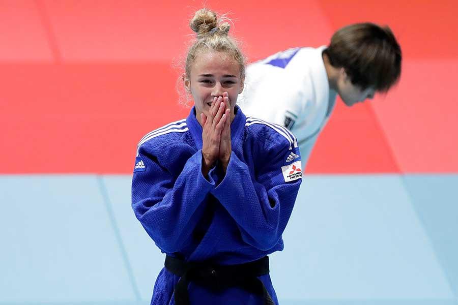 女子48キロ級決勝で連覇を達成したダリア・ビロディド【写真:Getty Images】