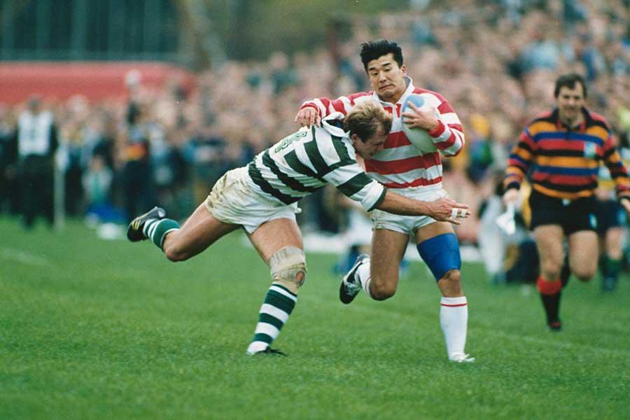 1991年大会で日本のW杯初勝利に大きく貢献した吉田義人氏【写真:Getty Images】