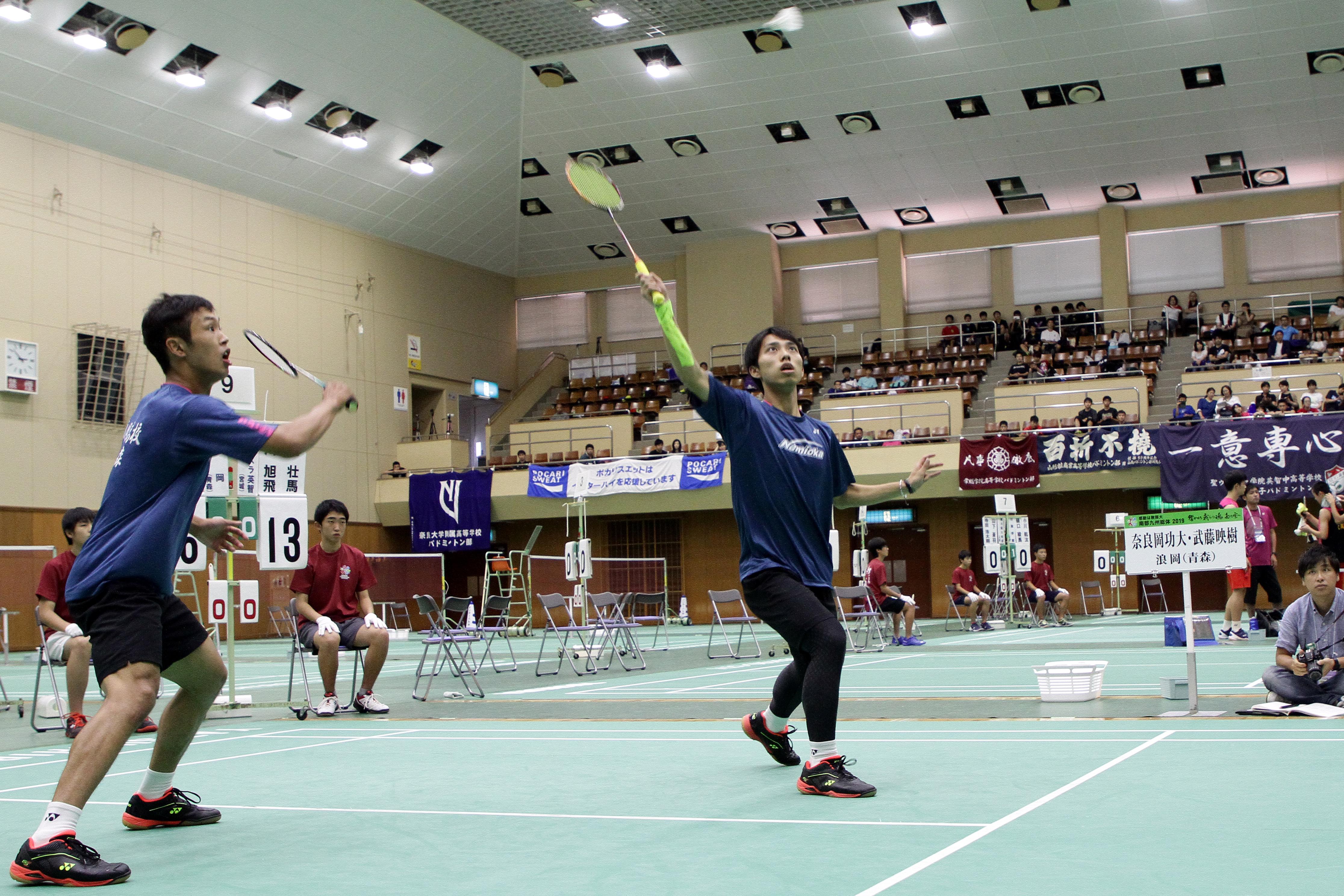 4強入りを決めた奈良岡と武藤【写真:平野貴也】