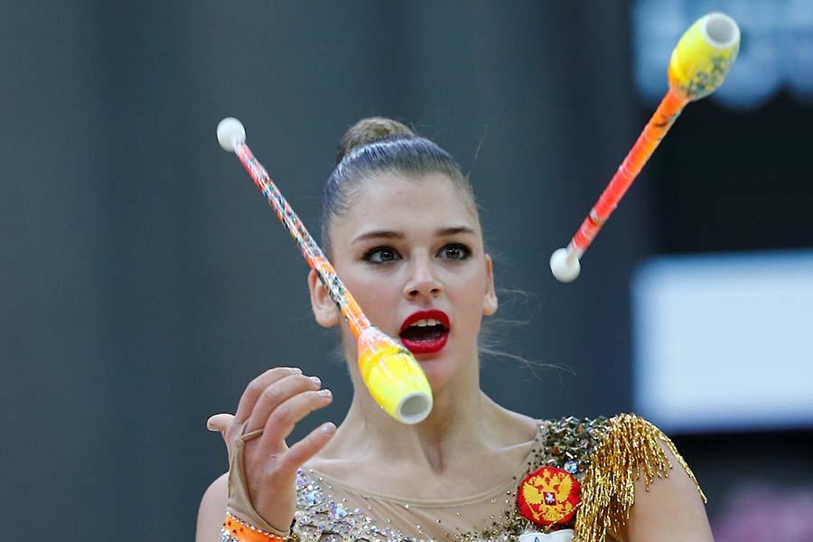 美しすぎる新体操選手として注目されるアレクサンドラ・ソルダトワ【写真:Getty Images】