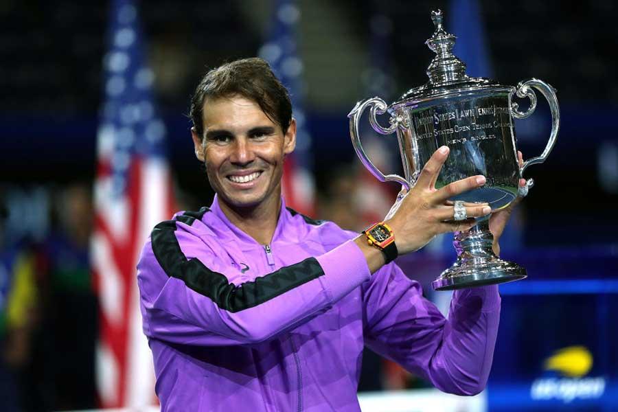 全米オープンで4度目の優勝を飾ったラファエル・ナダル【写真:Getty Images】