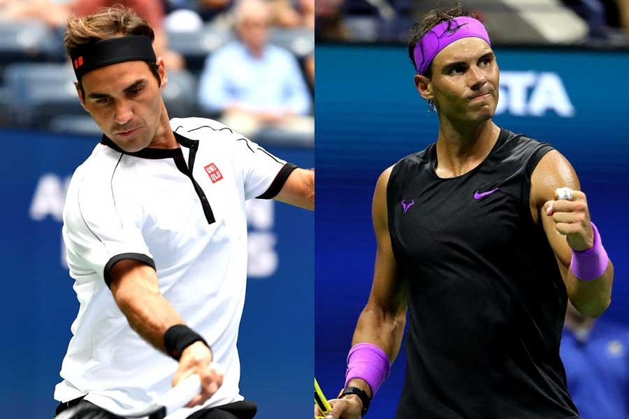 ロジャー・フェデラー(左)とラファエル・ナダル【写真:Getty Images】