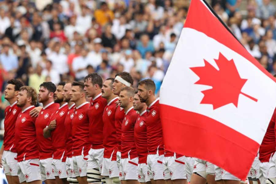 カナダ国歌斉唱のマスコットキッズが話題【写真:Getty Images】