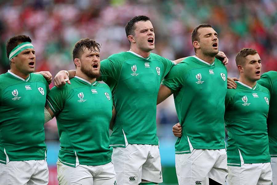 """アイルランドは小学生からの""""優しいエール""""を受けてサモア戦へ臨む【写真:Getty Images】"""