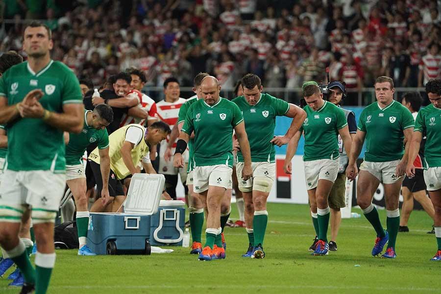 試合後、アイルランド代表が日本代表に示した姿が感動を呼んだ【写真:荒川祐史】