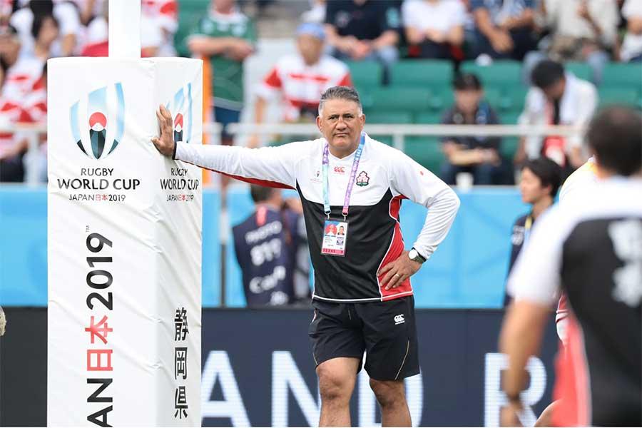 ラグビー日本代表を率いるジェイミー・ジョセフHC【写真:荒川祐史】