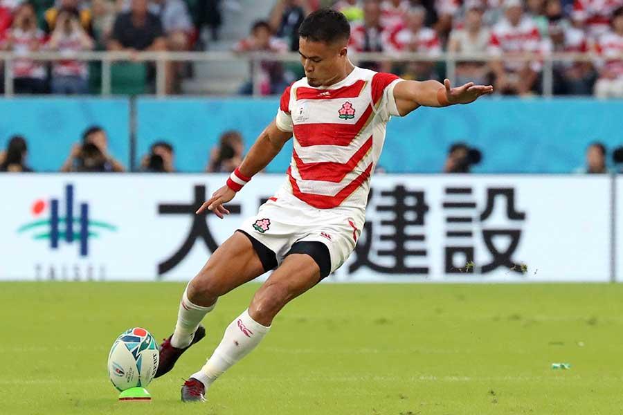 ラグビー日本代表の田村優【写真:AP】