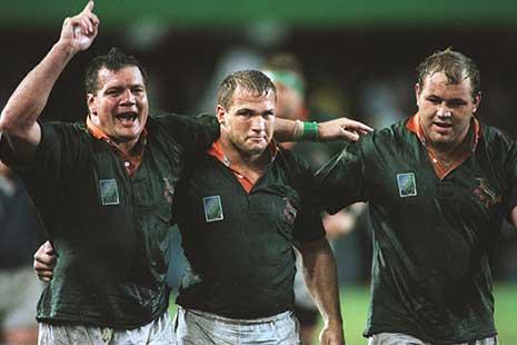 1995年大会の準決勝で勝利した南アフリカ【写真:Getty Images】