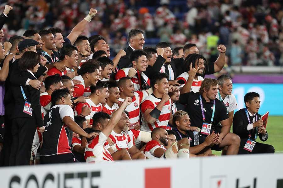 日本はスコットランドを下し8強入り、世界ランク7位に浮上した【写真:石倉愛子】