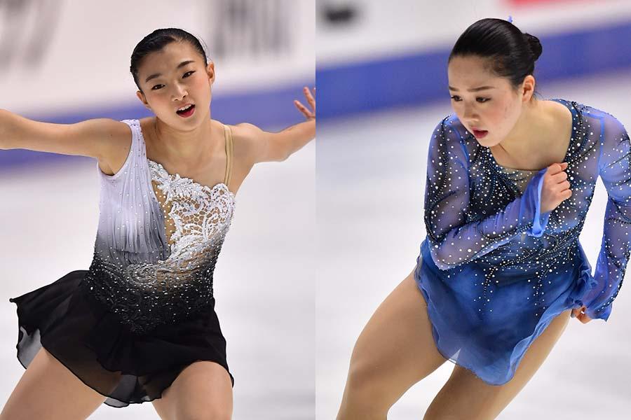 坂本花織(左)と樋口新葉【写真:Getty Images】