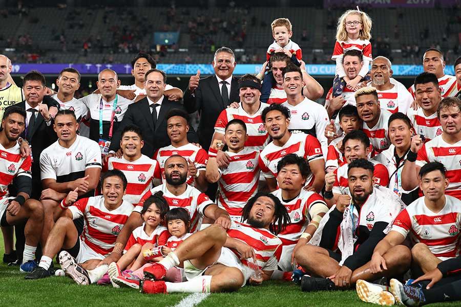 昨年のスポーツ界を盛り上げたラグビー日本代表【写真:Getty Images】