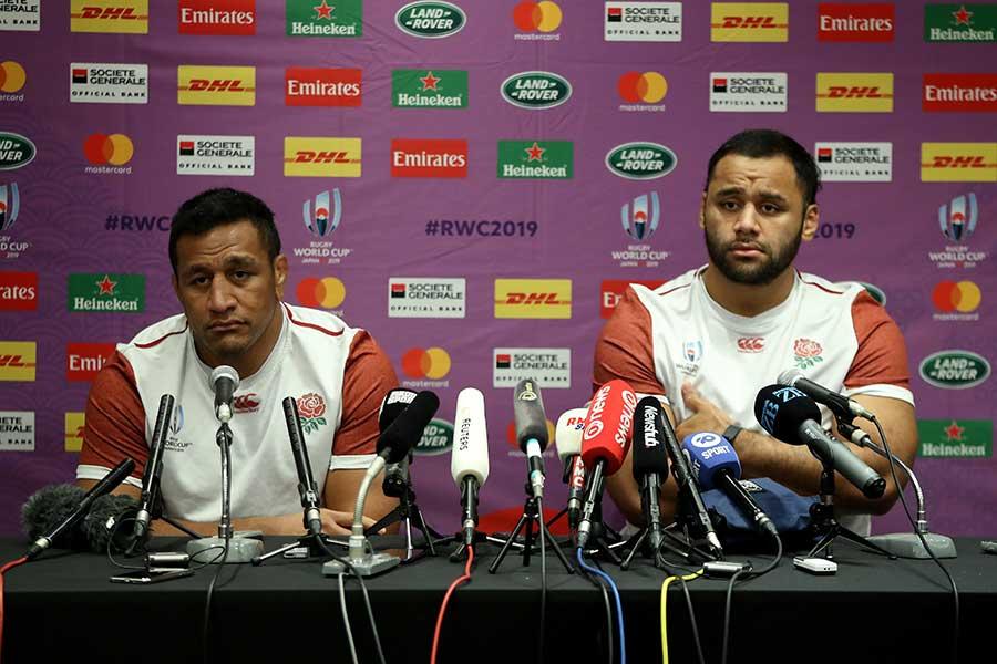 ラグビー・イングランド代表のマコ・ブニポラ(左)とビリー・ブニポラ【写真:Getty Images】