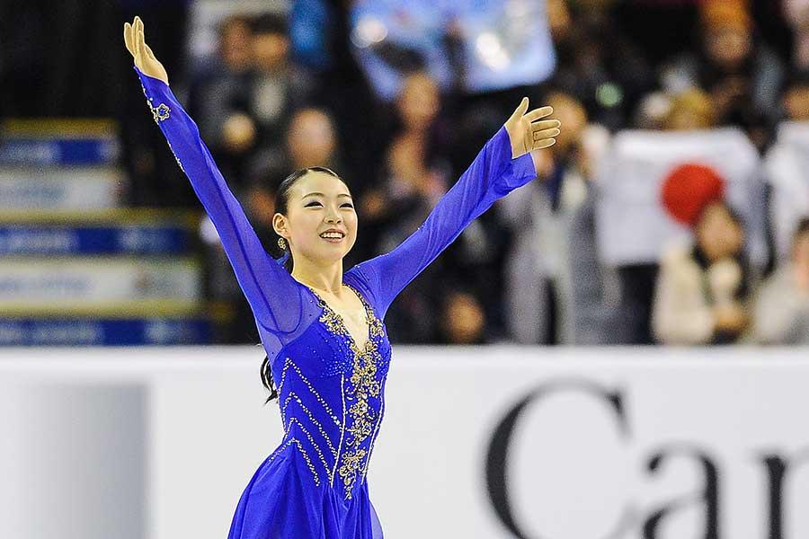 ショートプログラムで首位発進を飾った紀平梨花【写真:Getty Images】