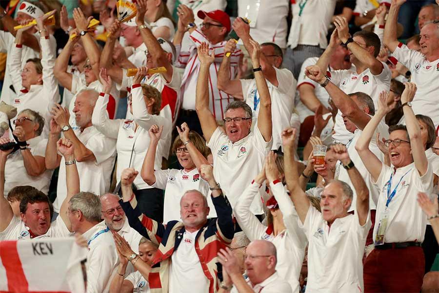 ラグビーのイングランドファンたち【写真:Getty Images】