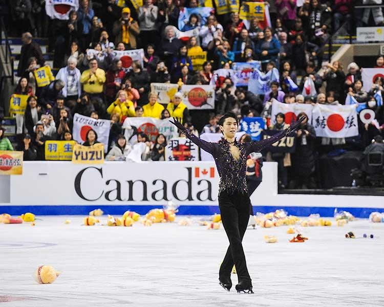 スケートカナダで優勝した羽生結弦【写真:Getty Images】