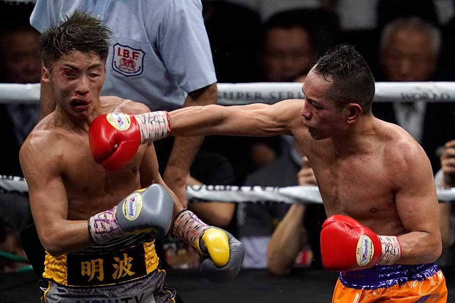 ノニト・ドネア(右)は12Rの死闘の末、井上尚弥に敗れた【写真:Getty Images】