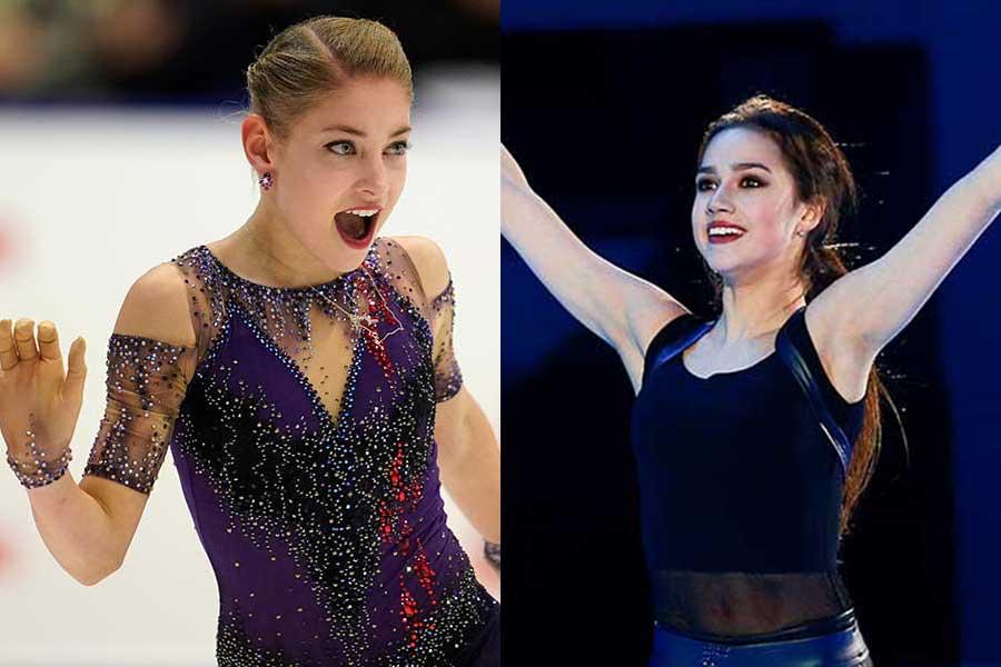 アリョーナ・コストルナヤ(左)とアリーナ・ザギトワ(右)【写真:Getty images】