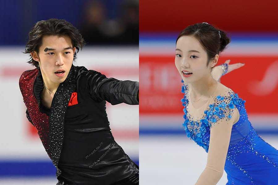 無良崇人(左)と本田真凜【写真:Getty Images】