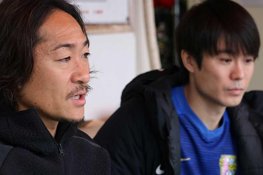 石川直宏さん(左)と馬場さん【写真:編集部】