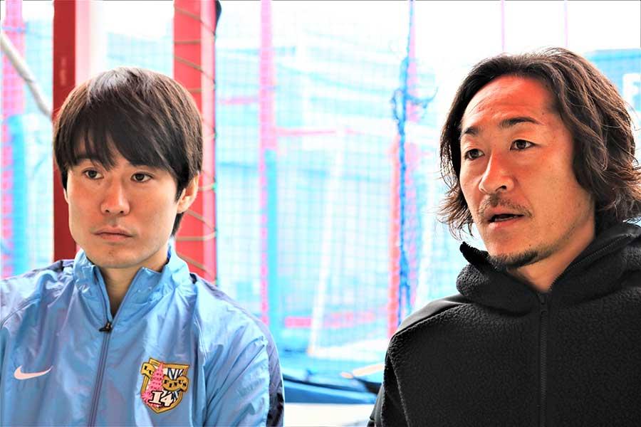 馬場憂太さん(左)と石川直宏さん【写真:編集部】