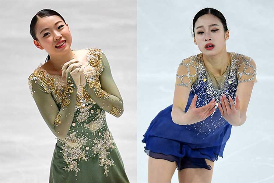 紀平梨花(左)とユ・ヨン【写真:Getty Images】