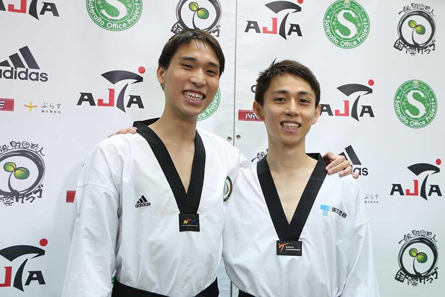 東京五輪内定を決めた兄の鈴木セルヒオ(右)と弟の鈴木リカルド【写真:平野貴也】