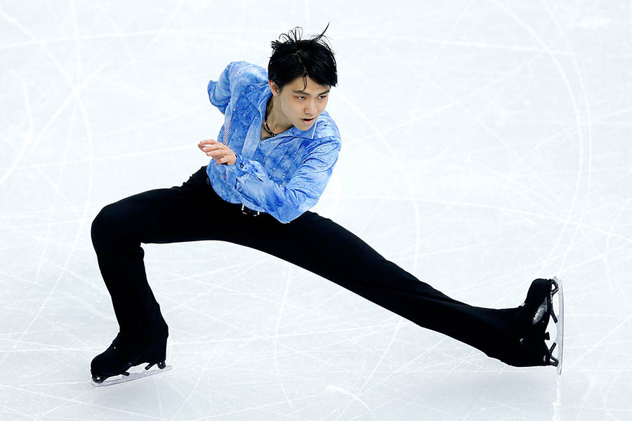 ソチ五輪SPで史上最高得点をマークした羽生結弦【写真:Getty Images】