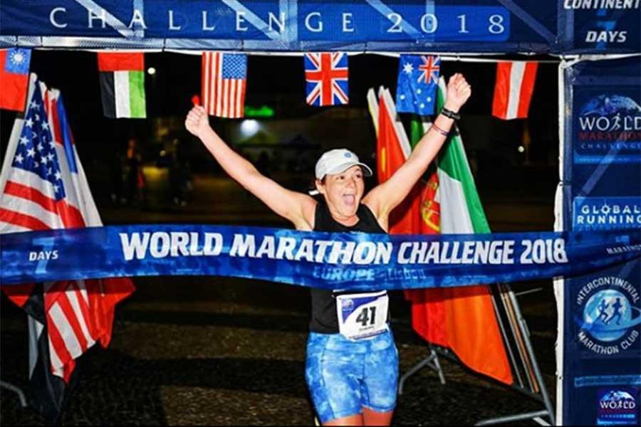 過去多くのマラソン大会に参加してきたベッカ・ピッツィさん(写真はベッカ・ピッツィさんインスタグラムより)