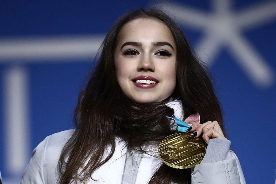 平昌五輪で金メダルを獲得したアリーナ・ザギトワ【写真:Getty Images】