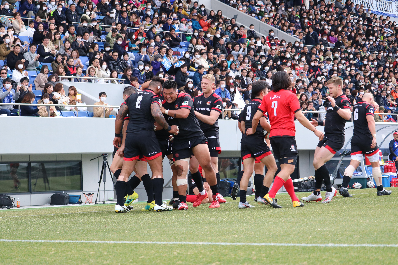 熊谷ラグビー場最多の2万138人のファンで満員となったホンダ-キャノンの一戦【写真:宮内宏哉】