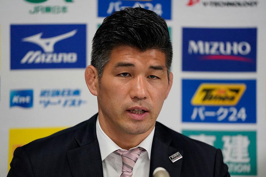 柔道の男子日本代表、井上康生監督【写真:Getty Images】