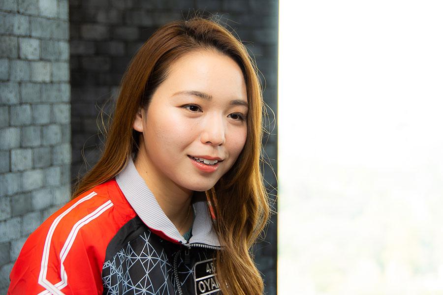 ボートレースの魅力は「女性が男性に勝てる数少ない競技」と大山は語った【写真:石渡史暁】