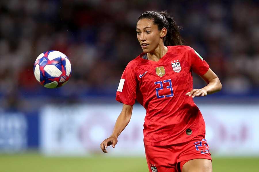 米国女子サッカー代表のクリステン・プレス【写真:Getty Images】