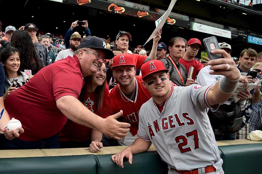 エンゼルスのマイク・トラウト【写真:Getty Images】