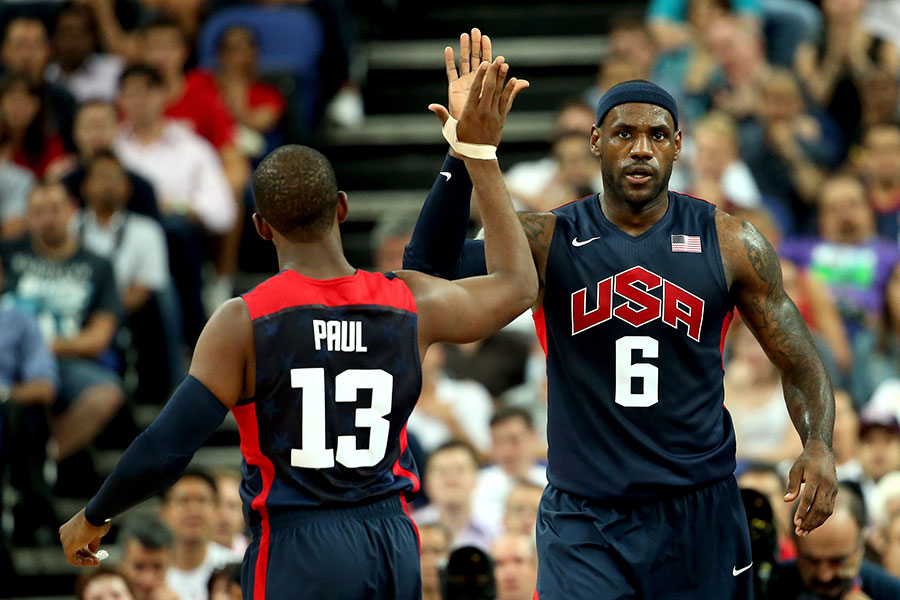 バスケットボール米国代表は2008年から3大会連続で金メダルを獲得している【写真:Getty Images】