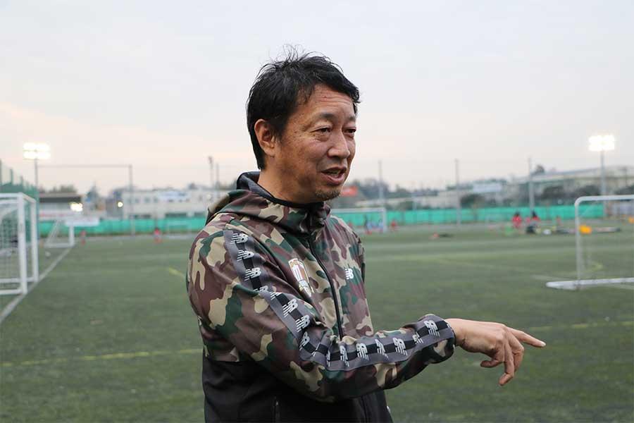 ジュニアでのリーグ戦文化の浸透を狙い、幸野健一は実行委員長としてプレミアリーグU-11を起ち上げた【写真:編集部】