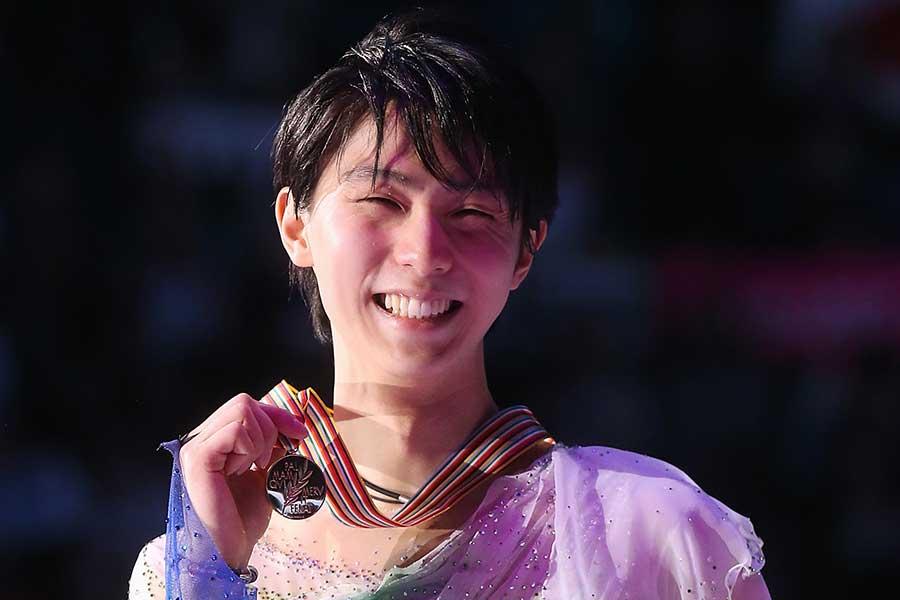 2017年の世界選手権で優勝した羽生結弦【写真:Getty Images】