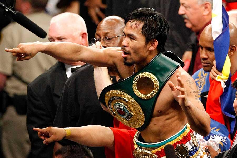 2009年5月2日、マニー・パッキャオはリッキー・ハットンを破った【写真:Getty Images】