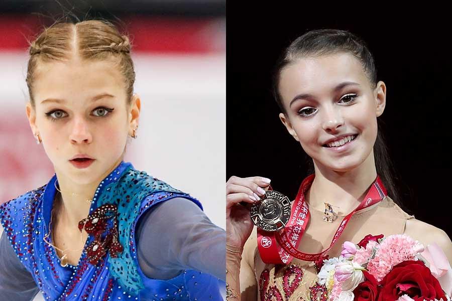アレクサンドラ・トルソワ(左)とアンナ・シェルバコワ【写真:Getty Images】
