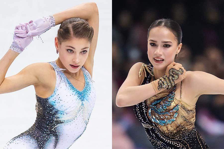 アリョーナ・コストルナヤ(左)とアリーナ・ザギトワ【写真:Getty Images】