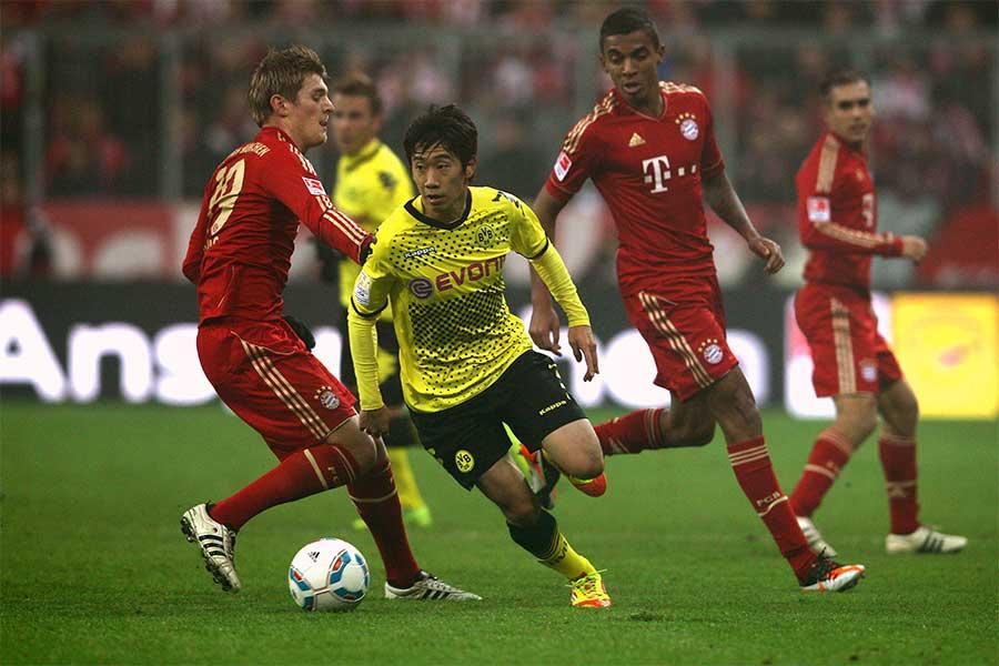 ブンデスリーガで日本人選手が認められるきっかけとなった香川真司の大ブレイク【写真:Getty Images】