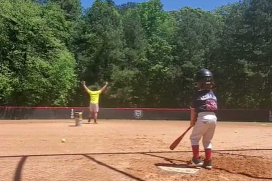 息子に本塁打を打たれたお父さんのリアクションに反響が集まっている(写真はコーリー・ウィリング氏のインスタグラムより)