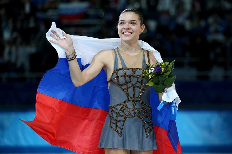 ソチ五輪で金メダルを獲得したアデリナ・ソトニコワ【写真:Getty Images】