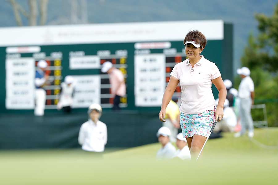 女子プロゴルファーの在り方を語った藤井かすみさん【写真:Getty Images】